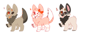 monster pup adoptables [CLOSED] by goatier