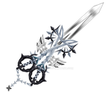 [Roxas] Two Become One X-blade by RoxasXIIIAxelVIII
