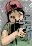 """Little Girl With Gun"" Color by StudioCreations"