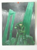 Master Chief painting by Tailef