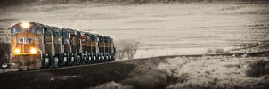 Engines on Old Track by arches123
