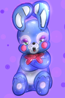Angry Toy Bonnie by NiGHTSHAO
