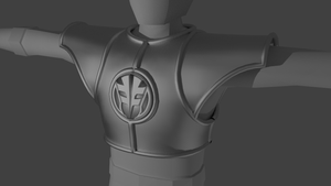 White ranger armor wip by Wewvic
