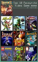 My top 10 Fav Video Games by AnnaZoey
