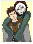 Petey and Rogue by DrewXIII