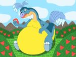 Loofah eat too much berries by MCsaurus