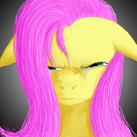 Angry Fluttershy tears by captainggkitten