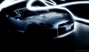 Nissan GT-R Light Painting 1 by FordGT