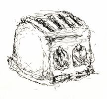 Toaster -- Non-Dominant Left Hand Sketch No.5 by jdb2