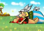 Asterix in the field by Amely14128