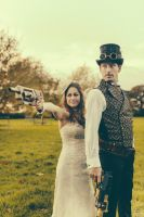 Paul and Danielle Steampunk Wedding 1 by HyperXP
