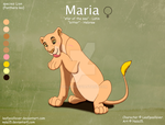 Maria Ref Sheet - Commission by Nala15