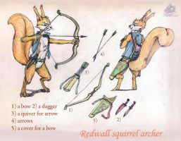 Redwall squirrel archer by DekabristMouse