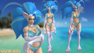 Felicia Bikini Blue by DragonLord720