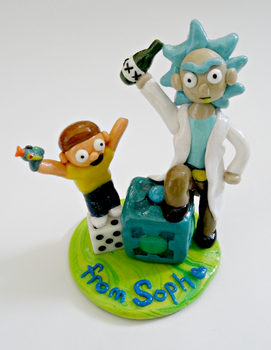 Rick and Morty~ Polymer Clay by xxPandaGirl16xx