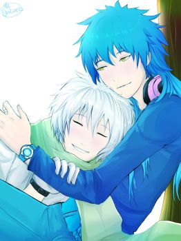 DRAMAtical Murder - Aoba and Clear by MelSpontaneus