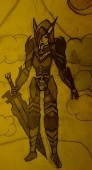 Elven Knight by Element115Infection