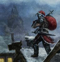 Santa Comes To Skyrim by Entar0178