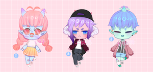 [2/3 OPEN] Adoptables: Chibi Onis: 25% OFF!! by MMXII