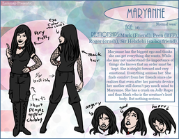 Character Sheet: Maryanne, Nor by zammap