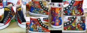 X-Men shoes by aarontheawesome