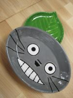 Totoro Ceramic Plate by Melon-love