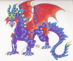 Spiral Horned Dragon by DrMario64