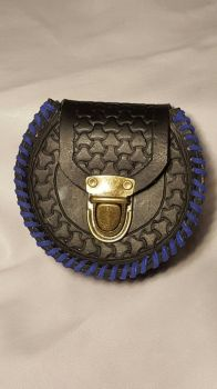 Horse Shoe Leather tooled pouch by PracticalApplication