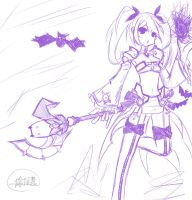 Aisha Void Princess Sketch Draw owo by Monusha