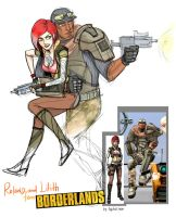 Lilith and Roland. Borderlands. by artlekina