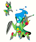 Bug Ghost Mantids (design does not belong to me) by Toldentops