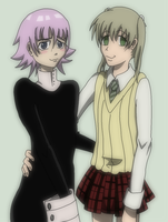 Maka and Crona from Soul Eater by AishaPachia