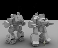 W.i.P5: Assault Mech by AceDarkfire