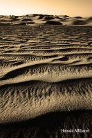 Wave in sand by aLdEeb