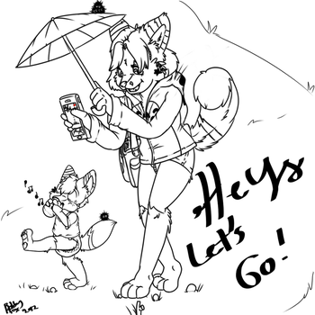 Hey let's go !! Mommy by PamperedKitFox