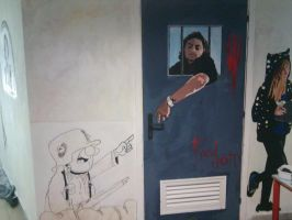 my portrait on a doors 3 and sturmtruppen by TheSniper92