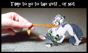 Lets Go to the Vet Paper Child by KiRAWRa