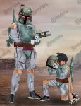 HipHopTrooper and MiniBobaFett by jamesvallesteros