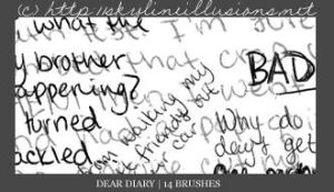 Dear Diary PS Brushes by SkylineIllusions