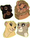 Lion Busts by oCrystal