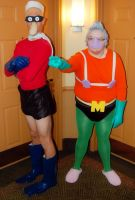 Mermaid Man and Barnacle Boy Cosplay by littlecasaroo