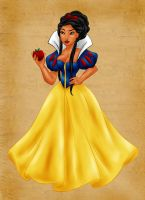 Pocahontas as Snow White (color) by vanillacoke-disney