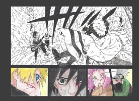 Naruto saves Sakura by MTEvans