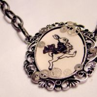 White Rabbit Clockwork Pendant by SteamSociety