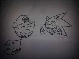 Boo mario and sonic by Master-wolf149