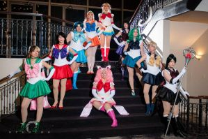 Sailor Scout Group by kayz0rbeam