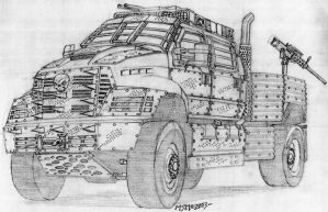 Post Apocalyptic Ford F650 Heavy Duty by RedSpider2008