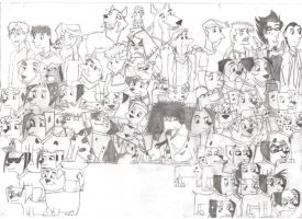 Group Photo 101 Dalmatians by dudeman-210