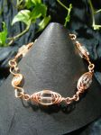 Clear And Copper Herringbone Bracelet by BacktoEarthCreations