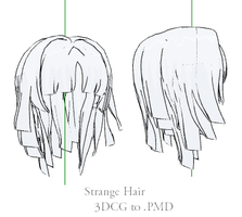 MMD- Strange Hair- DL by MMDFakewings18